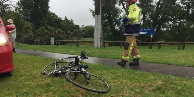 A cyclist was knocked off their bike by a car in Welcome Bay. Photo/George Novak