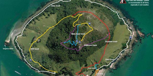 The Mauao tracks. Image/Tauranga City Council
