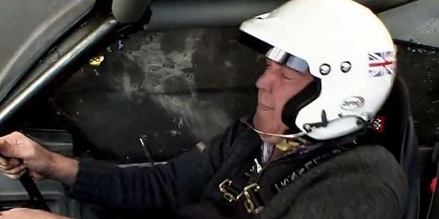 Clarkson was still able to talk during the stunt. Photo: Top Gear/YouTube