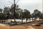 Only devastation remains after a wildfire spread through the town of Yarloop. Photo / Twitter