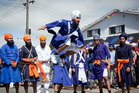 Tauranga Sikh Parade begins on a high note for the thousands involved and the hundreds of spectators. Photo/  Andrew Warner.