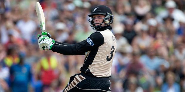 Black Caps batsman Martin Guptill. Photo / Alan Gibson