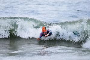 Round the Mount Swim women's champion Mikayla Nielsen. Photo/George Novak
