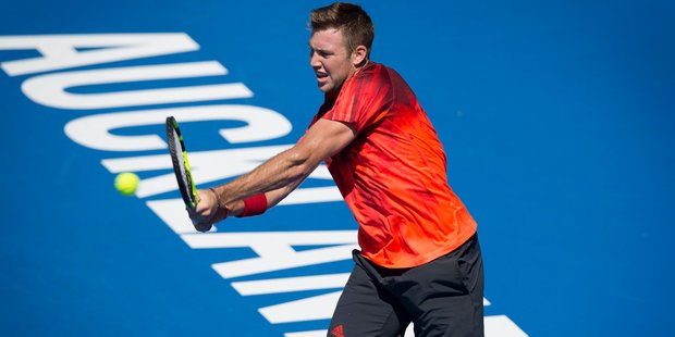 Jack Sock was the first man to qualify for the semifinals at the ASB Classic. Photo / Nick Reed