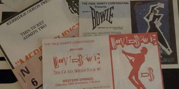Tickets for David Bowie concerts at Western Springs, Auckland.