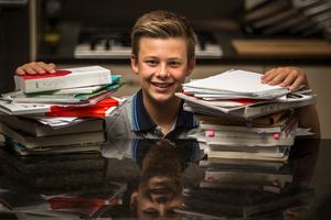 Benjamin Cullen is one of the thousands of students around the country who will get their NCEA results tomorrow. Photo / Michael Craig