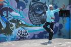 Baraka and the Graffiti Wall.  Photo / Supplied