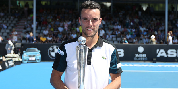 Roberto Bautista Agut. Photo / Doug Sherring