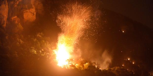Mt Maunganui on fire. Photo / George Novak, Bay of Plenty Times