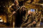 Kurt Russell, Jennifer Jason Leigh and Bruce Dern in The Hateful Eight. Photo / Supplied