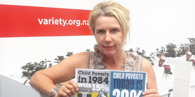 Variety chief executive Lorraine Taylor is in no doubt of the reality of child poverty. Photo / Supplied