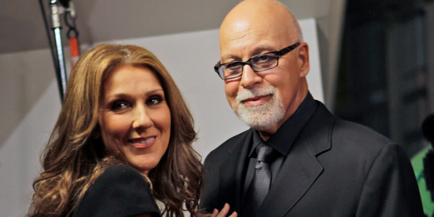 Celine Dion with her husband Rene Angelil, who has died after a long battle with cancer. Photo / AP