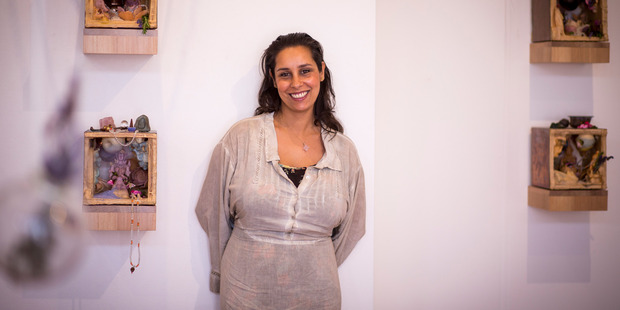 Tiffany Singh worked as a graphic designer before studying art. Photo / Dean Purcell