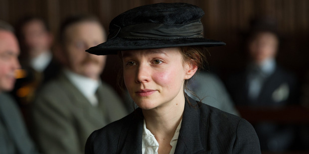 Carey Mulligan portrays Maud Watts in a scene from Suffragette. Photo / AP