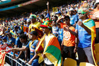 Sri Lankan fans supporting their team against England. Photo / Mark Mitchell