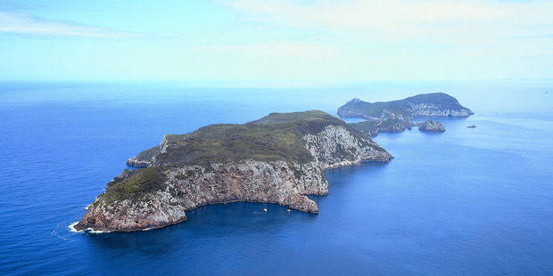 Aerial view of the Poor Knights Islands, Tutukaka, Northland. Photo / Supplied