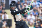 Martin Guptill in fine form during the T20 international series. Photo / Alan Gibson