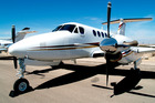 A Beechcraft Super King Air aircraft, similar to the plane that will fly Airly members on unlimited private flights for a monthly fee.