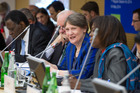 If the Trans-Pacific Partnership can be signed here with due ceremony Helen Clark deserves a place of honour. Photo / UN