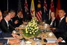 Prime Minister John Key at a Trans Pacific Partnership leaders meeting. Photo / Alan Gibson