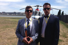 Matt Heath (left) and Jeremy Wells got on like a house on fire with John Key. Photo / Supplied