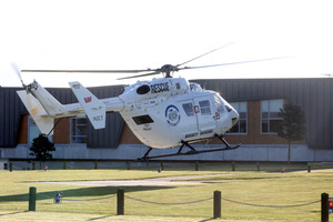 The Palmerston North Rescue Helicopter flew the 10-year-old to hospital.