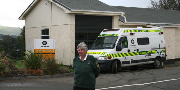 Ambulance driver and emergency medical technician Debbie Paterson stands outside the St John Ambulance building. PHOTO/FILE