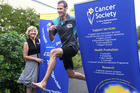 Trudy Kirk, Cancer Society Hawke's Bay centre manager, and Potts trustee/ex-NZ steeplechase champion Neville Smith are banking on athletics fans' support this Saturday. Photo / Duncan Brown