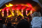 Strong winds on Friday almost forced the cancellation of that night's Hawke's Bay UB40 concert.