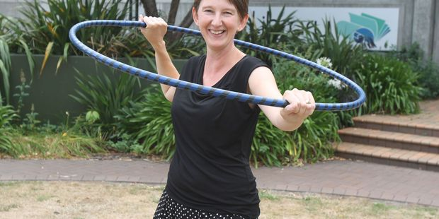 Lucy Cooper is running a hula hooping class at Queen Elizabeth Park next week. PHOTO/FILE