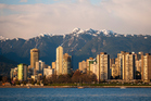 The Vancouver skyline with mountains. Photo / Getty Images