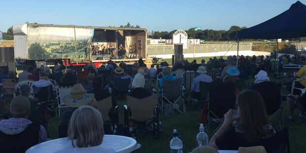Fiddler Marian Burns entertains the crowd at the Wairarapa Country Music Festival.PHOTO/FACEBOOK