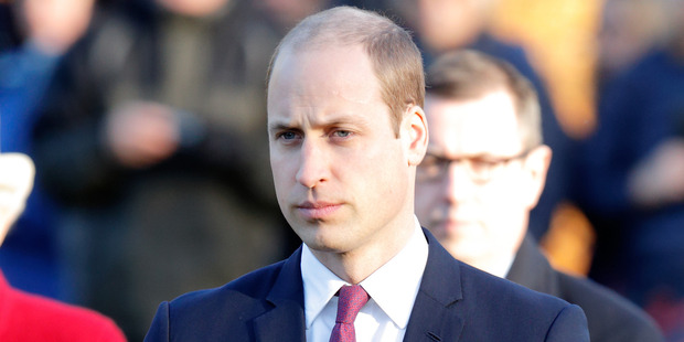 A freshly shaved Prince William. Photo / Getty