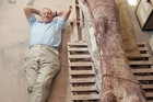 Sir David Attenborough's BBC show will feature a 37m model of the 70-tonne titanosaur. Photo / BBC