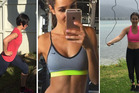 Tina and Tessa take on week one of the Bikini Body Guide. Photos / Instagram, supplied