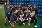 The Black Caps celebrates winning the Twenty20 international series against Sri Lanka. Photo / Jason Oxenham.