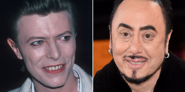 Mix-up: David Bowie and Celebrity Big Brother contestant David Gest. Photos / Getty Images