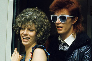 David Bowie with Angie in London in 1974. Photo / Getty Images