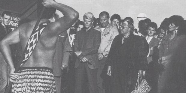 Loading David Bowie paid a visit to the Takapuwahia Marae. Photo / Takapuwahia Marae