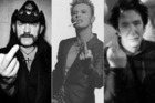 Lemmy Kilmister, David Bowie and Alan Rickman have all died from cancer. Photo / Twitter