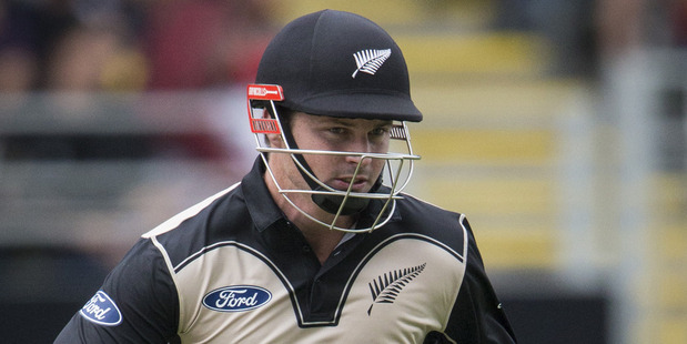 Colin Munro blazed a 14-ball 50 against Sri Lanka at Eden Park. Photo / Jason Oxenham