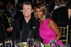 David Bowie and his supermodel wife Iman, who posted a series of cryptic messages on social media in the lead-up to his death. Photo / Getty