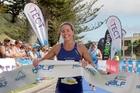Amelia Watkinson was strong in winning the Tauranga Half triathlon. Photo / Andrew Warner