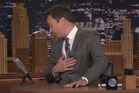 Jimmy Fallon gets emotional as he talks about the death of his friend, music star David Bowie.