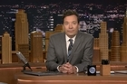 Late-night host Jimmy Fallon pays tribute to music legend David Bowie.