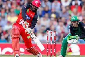 Chris Gayle caused controversy by turning down an easy single against the Sydney Thunder. Photo / Getty