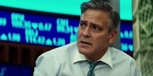 George Clooney is held hostage by an irate gunman who wants answers after he lost all his money when the stocks bombed in new film Money Monster.