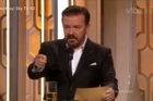 Ricky Gervais takes a shot at Donald Trump.