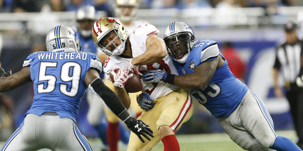 Jarryd Hayne in action for the 49ers. Photo / AP