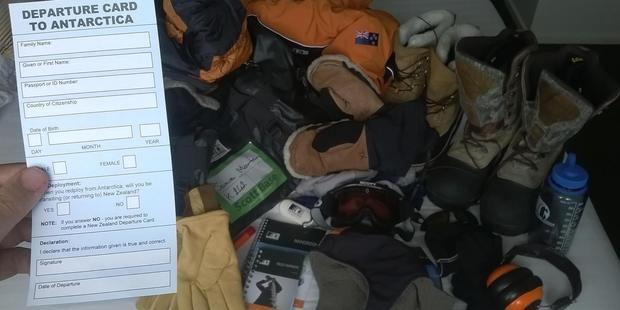 The beginning of Jamie Morton's adventure in Antarctica. Photo / Jamie Morton